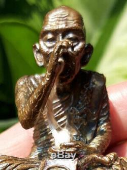 0341-thai Buddha Amulet Talisman Statue Lp Kalong Sit Pigs Wat Khao Lam 52 Nawa