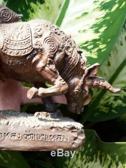 0350-thai Buddha Amulet Talisman Statue Wua Tha Noo Lp Kalong Wat Khao Lam Lucky