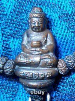 0429 Pra Kring Prong Fa Takrut Necklace Lp Kalong 52 Buddha Thai Amulet Genuine
