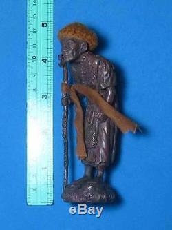 0435-thai Buddha Amulet Talisman Statue Lp Mun Wat Baan Jarn 53 Money Lucky Real