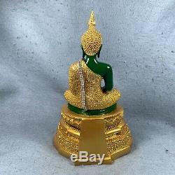 10.5 Bucha Statue Phra kaew morakot LEK NAM PEE Thai Buddha Amulet Talisman