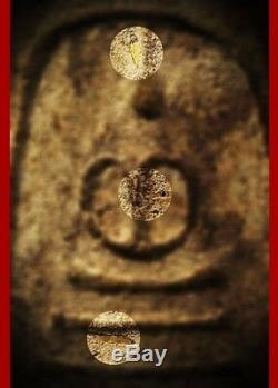 100% Thai Buddha Amulet Pra Somdej Somdejto Kru Wat Kudi Thong Gold Implant