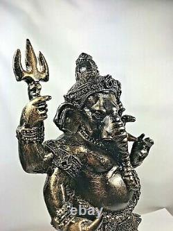 10Magic Ganesha Bucha Statue LEK NAM PEE Thai Buddha elephant Amulet Talisman