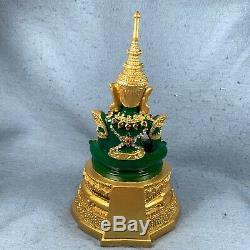 11.5 Bucha Statue Phra kaew morakot LEK NAM PEE Thai Buddha Amulet Talisman #