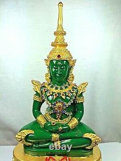 11.5 Bucha Statue Phra kaew morakot LEK NAM PEE Thai Buddha Amulet Talisman $$$