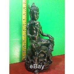 11 Incs YAMA Thai Bronze Statue Buddha Amulet A Wrathful God Enlightened Protect