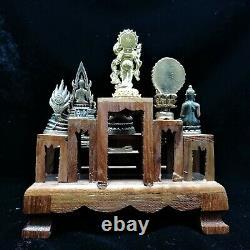 11 LP Phra Antique Statue Thai Buddha Amulet Brass Magic Rare Collection Genuine