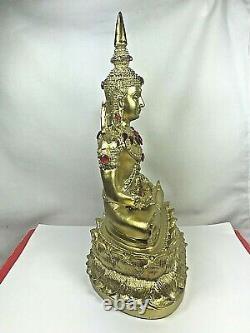 11 Magic Phra Kaew Morakot Gems Buddha Bucha Statue Wealth Luck Thai Amulet$$
