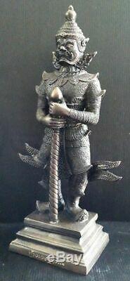 14 Bucha TAO WESSUWAN Statue Giant Buddha Thai Amulet Talisman Fetish Black Oxi