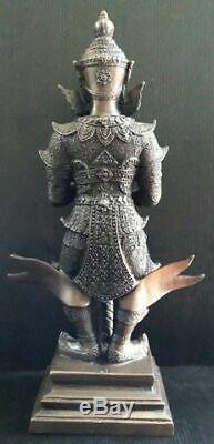 14 TAO WESSUWAN Statue Giant Buddha Thai Amulet Talisman Fetish Black Oxi