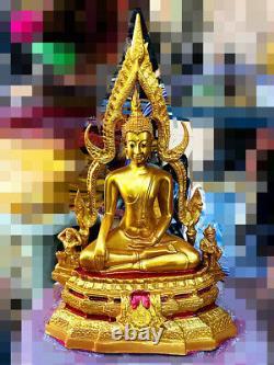 16070-large Thai Buddha Fiberglass Statue Peaceful Amulet Deity Chinnaraj 33cm