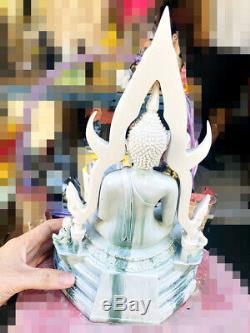 16071 Large Thai Buddha Statue Amulet Marble Fiberglass Chinnaraj Mass Chant