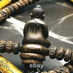 16145-metal Necklace 108bead Pha Kring Buddha Takud Amulet Thai Lp Kalong Be2552