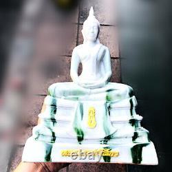 16439-large Thai Buddha Bucha Soton Statue Amulet Marble Fiber Glass Mass Chant