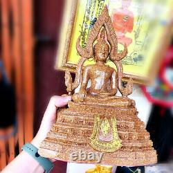 16493 Thai Buddha Statue Amulet Roof Tile Fiber Glass Chinnaraj Mass Chant 30cm