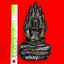 16713 Large Buddha Statue Crystal Leklai Naga Eye Thai Amulet Kruhod Blue NakPog