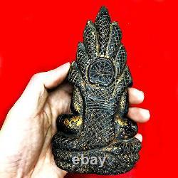 16715 Large Buddha Statue Crystal Leklai Naga Eye Thai Amulet KruHod Green Lucky