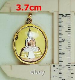 18K Gold Buddha Pendant Luang Phor Sothorn Amulet Carved Thai Jewelry Fine 9.7g