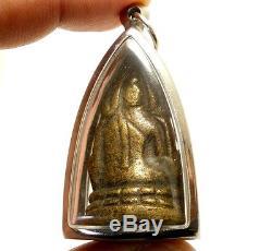 1942 Buddha Chinnaraj Indochine Thai Amulet Super Strong Life Protection Pendant