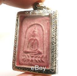 1953 Powerful Red Lp Puek Wat Kingkaew Thai Buddha Miracle Lotus Amulet Pendant