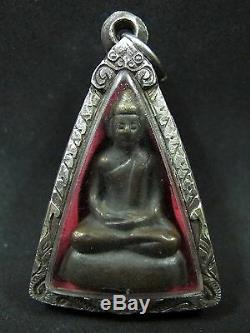 1972 Thai Bronze Buddha Statue Phra Kring'somdej Ya' Figure Amulet