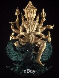 1Set Phra Phom 4 Face Head Brahma LP Yoon Thai Buddha Amulet Luck Magic Hindu
