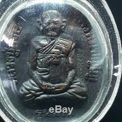 1st Model Old Rare Copper RIAN LP HONG POWERFUL WEALTH Thai Buddha Amulet Case