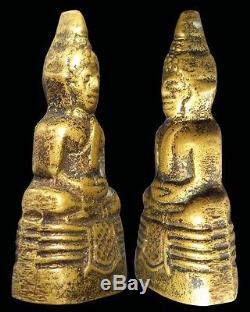 2 Certificate By Dd-pra Year 1965 Mini Phra Kring Lp Sothorn Thai Buddha Amulet