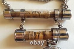 2 Takrut Tiger LP Mo Wat Chanthana Ram Thai Buddha Amulet Necklace #aa538a
