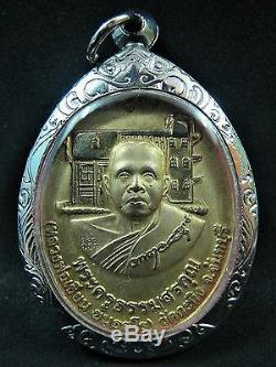 2006 Thai Bronze Buddha Coin Statue Monk Lp Khian Figure Temple Blessed Amulet