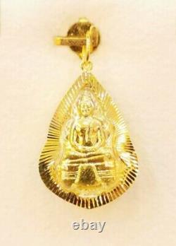 22K Gold Buddha Pendant LP Sothorn Holy Amulet Auspicious Thai Jewelry Fine 3.8g