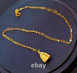22K Thai Buddha Amulet Pendant + 24 inch Necklace Chain Holy Fine Gold Jewelry