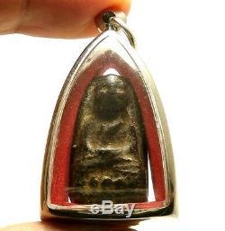 2497 Lp Tuad Thuad Pim Phra Rod Real Thai Great Buddha Amulet Lucky Rich Pendant