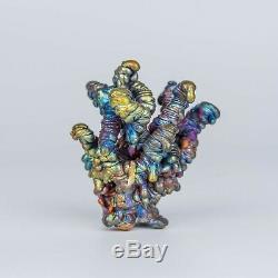272g Leklai NAGA BUCHA Rainbow 7Color magic lucky Rare thai buddha amulet 987