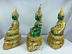 3 Seasons Phra Kaew Morakot Bucha Statue Lek Nam Pee Buddha Thai Amulet Talisman