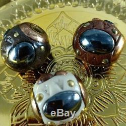 3pcs Leklai Thai Amulet Lp Somporn Protect Buddha Heal good Protect Lucky Takrut