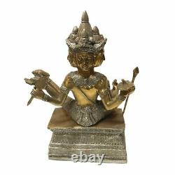 4 Face Buddha Statue Phra Prom Hindu Thai Amulet Lucky Charm Handmade Decor 10