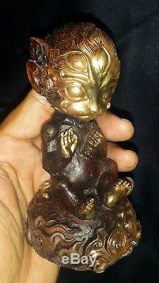 4Ear 5Eye Hunting Money Love Luck Rich Good Business Thai Buddha Amulet statues