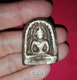 5 Buddha Amulet Thai Magic Powder Talisman Powerful Lucky Charm Rare Old Real
