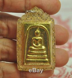 5 TOP Gold Leklai Benjapakee Power Phra Somdej set of Pendant Thai Buddha amulet