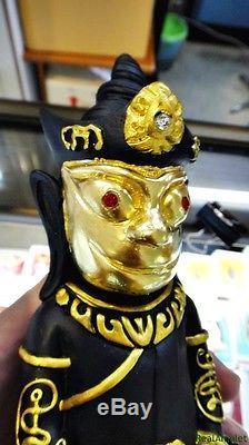 5018 Ngang Ngung Mahasaneh Holy Thai Buddha Amulet Love Charm Gold Balck Statue