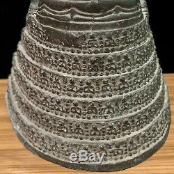6.7 Hundreds Buddha Figure Amulets Platform Antique Thai Buddha Statue Bronze