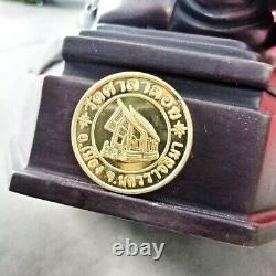 7 Inches Thai Amulet Statue LP Thuat Buddha Shelf Good Luck Charm for Home