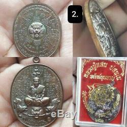 7 pcs Coin Phra Lp Saen Wat BannongJik Thai Buddha Amulet Talisman Luck Rich