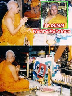 7273-thai Amulet Powerful Protection Closed Eye Pidta Buddha Dum Leklai Tokraja