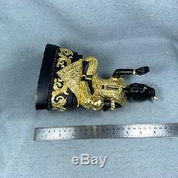 8.5 Enamel Real Gold Kuman Thong Phra LP Tae Voodoo Spirit Amulet Thai Buddha