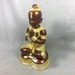 8 Enamel Real Gold Kuman Thong Phra LP Tae Voodoo Spirit Amulet Thai Buddha