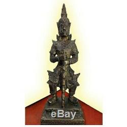 9.5 Bucha TAO WESSUWAN Statue Giant Buddha Thai Amulet Talisman Fetish Metal