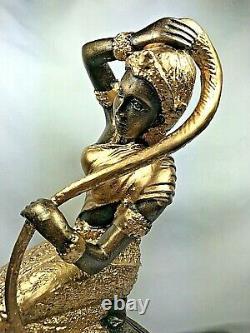 9.5 Spirit Phra Mae Thorani Mother Earth Buddha Lek Nam Pee Statue Thai Amulet
