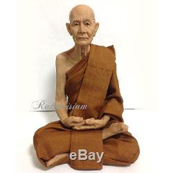 9 W Thai Buddha Amulets Monk LP Mun Bhuridatta Resin Lifelike Decoration